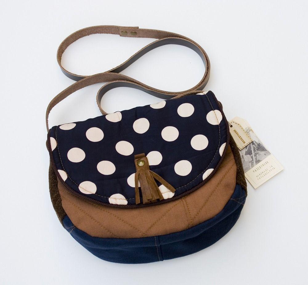 Polka dot purse by MadeByHank