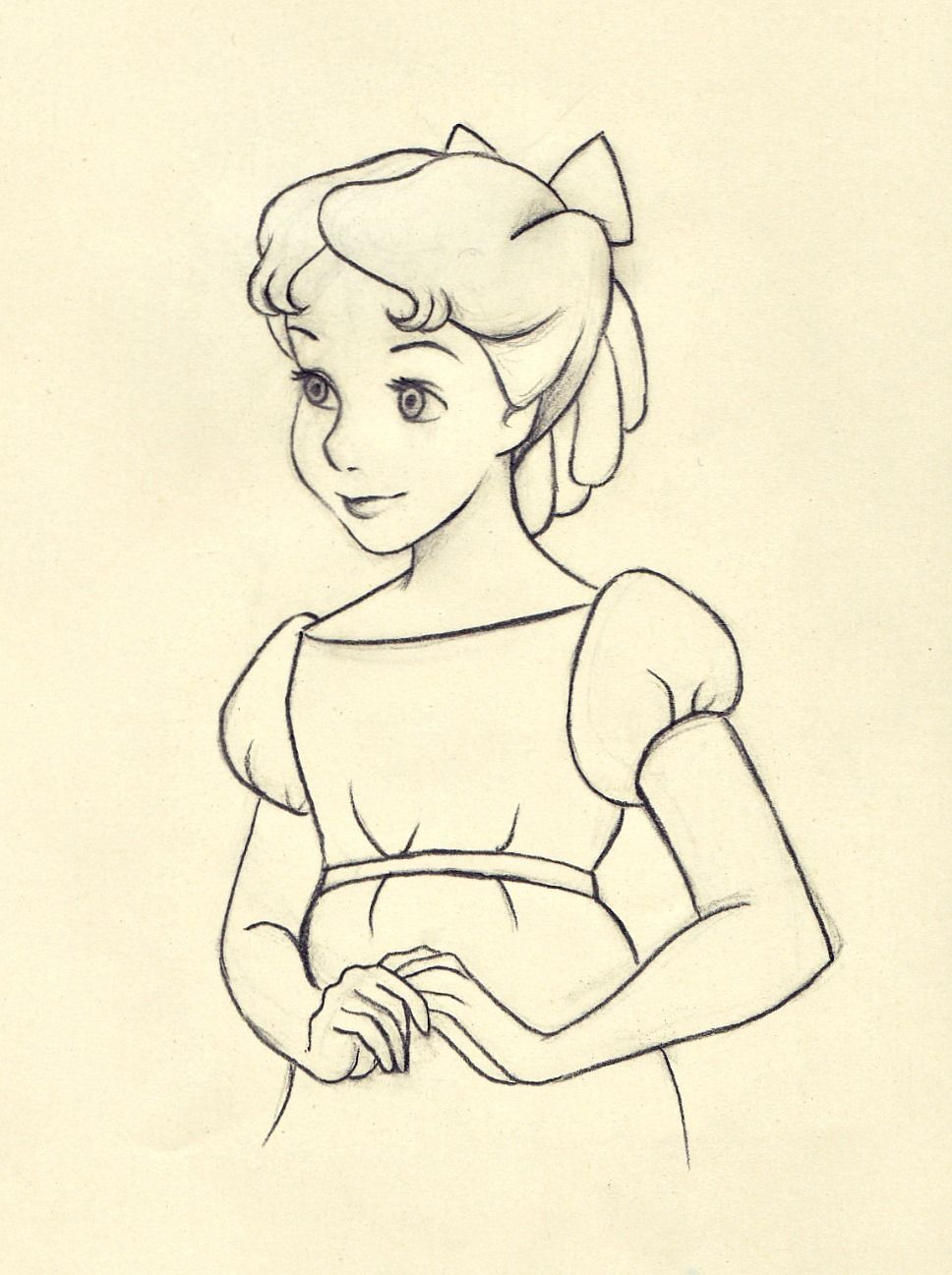 Wendy C Disney Drawing DisneyDisney SketchesSimple