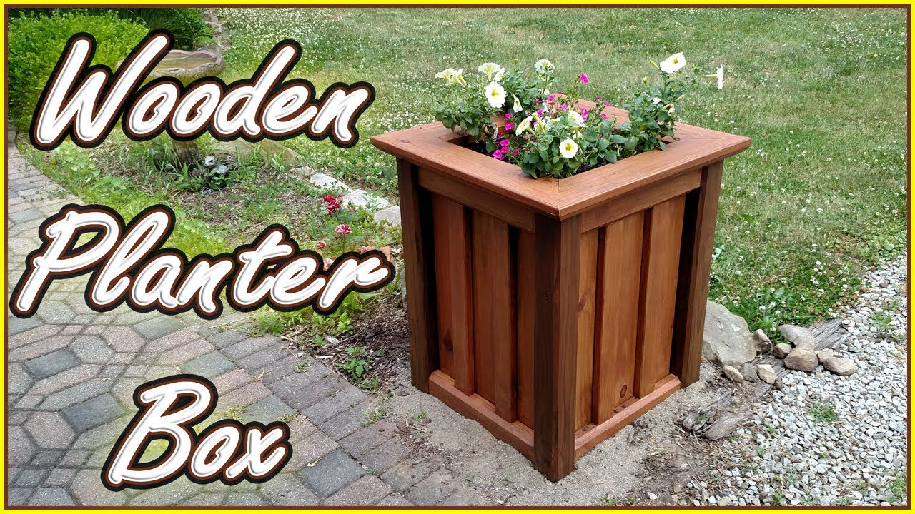 diy planter box treated wood youtube diy planter box on easy diy woodworking projects to decor your home kinds of wooden planters id=36729