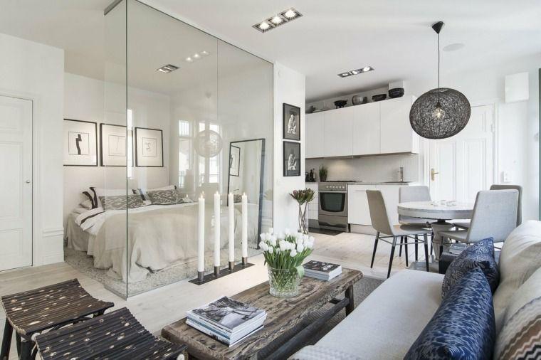 Façons d\'aménager studio : 58 idées intéressantes   Tiny apartments ...