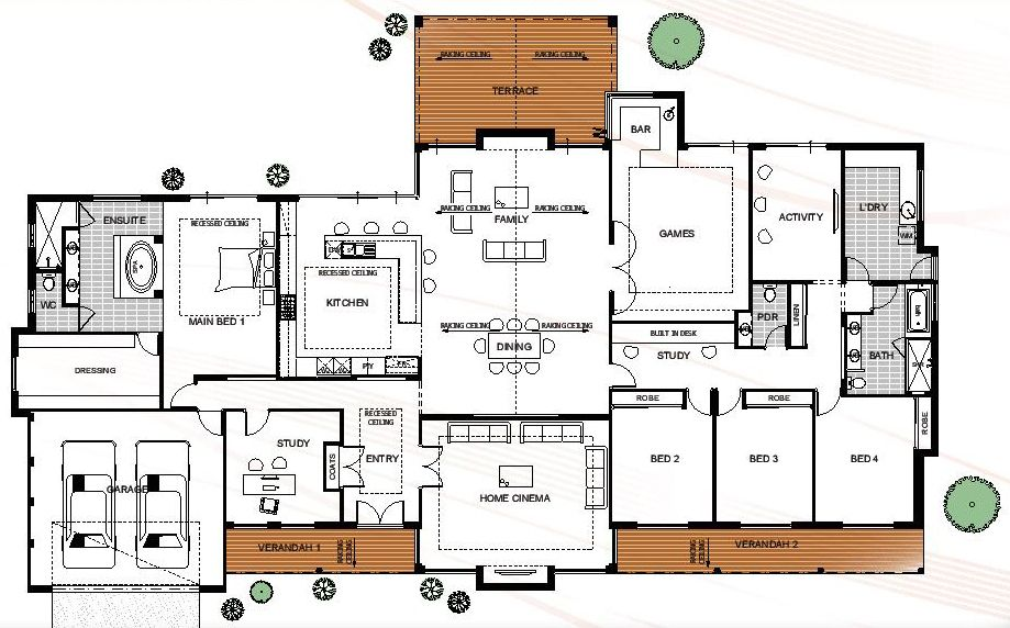 Floor Plan Friday Farmhouse style rural house design with