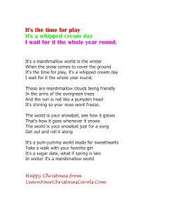 A Marshmallow World Lyrics Video Mp3 Karaoke Christmas Songs List Songs Holiday Songs