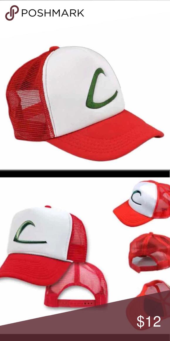 Pokemon Ash Ketchum Trucker Snapback Mesh Hat Mesh Hat Pokemon Hats