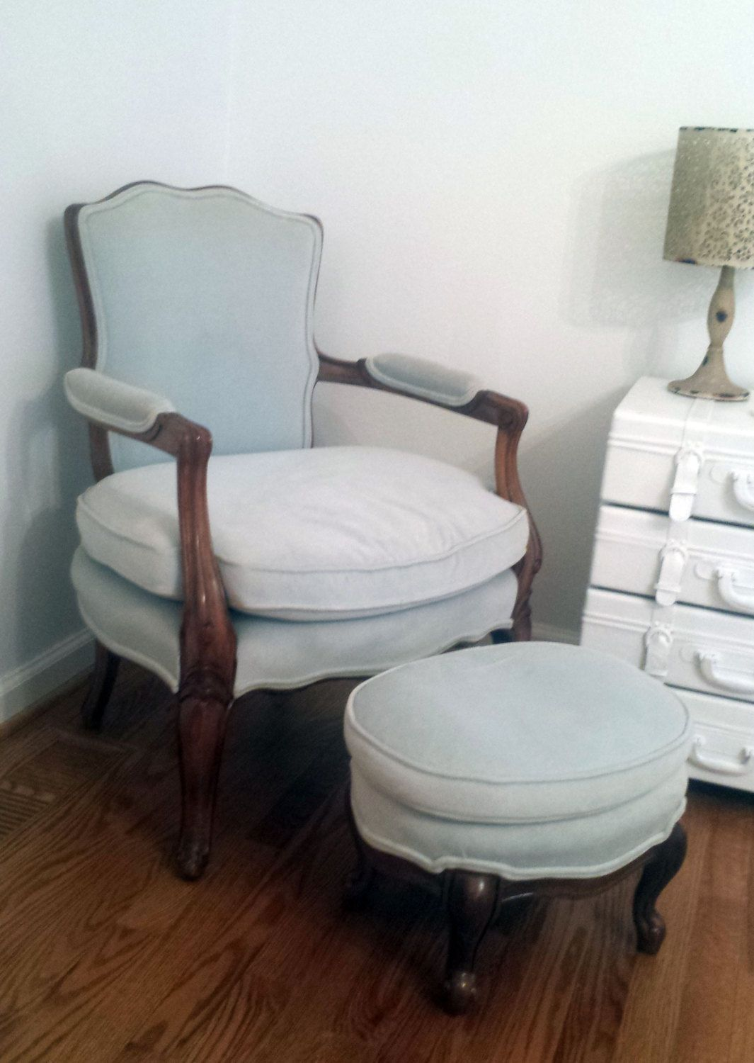 Antique Chair and Ottoman Bedroom Chair Accent Chair