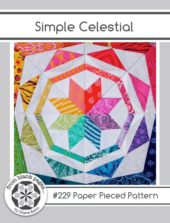 Simple Celestial 229 24 Inch Paper Pieced Quilt Pattern