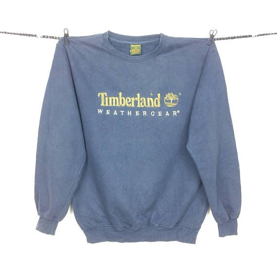 online store 0ea35 3fc60 Vintage Timberland WEATHERGEAR Embroided Logo Crewneck