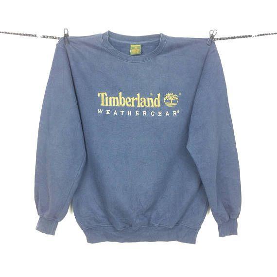 835c21eec2f Vintage Timberland WEATHERGEAR Embroided Logo Crewneck Sweatshirt ...