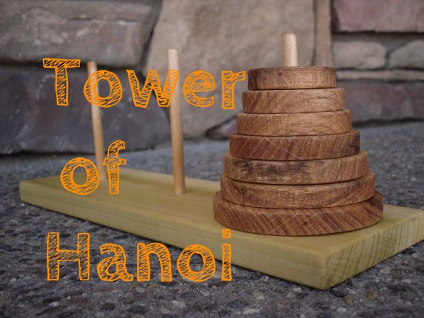 Make A Tower Of Hanoi Puzzle Game Tower Of Hanoi Woodworking