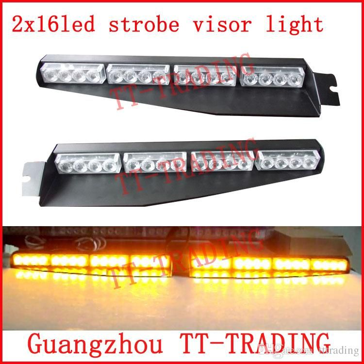Strobe Lights For Cars Amusing 2X16Ledpolicestrobelightscarvisorlight 750×750  What Inspiration Design