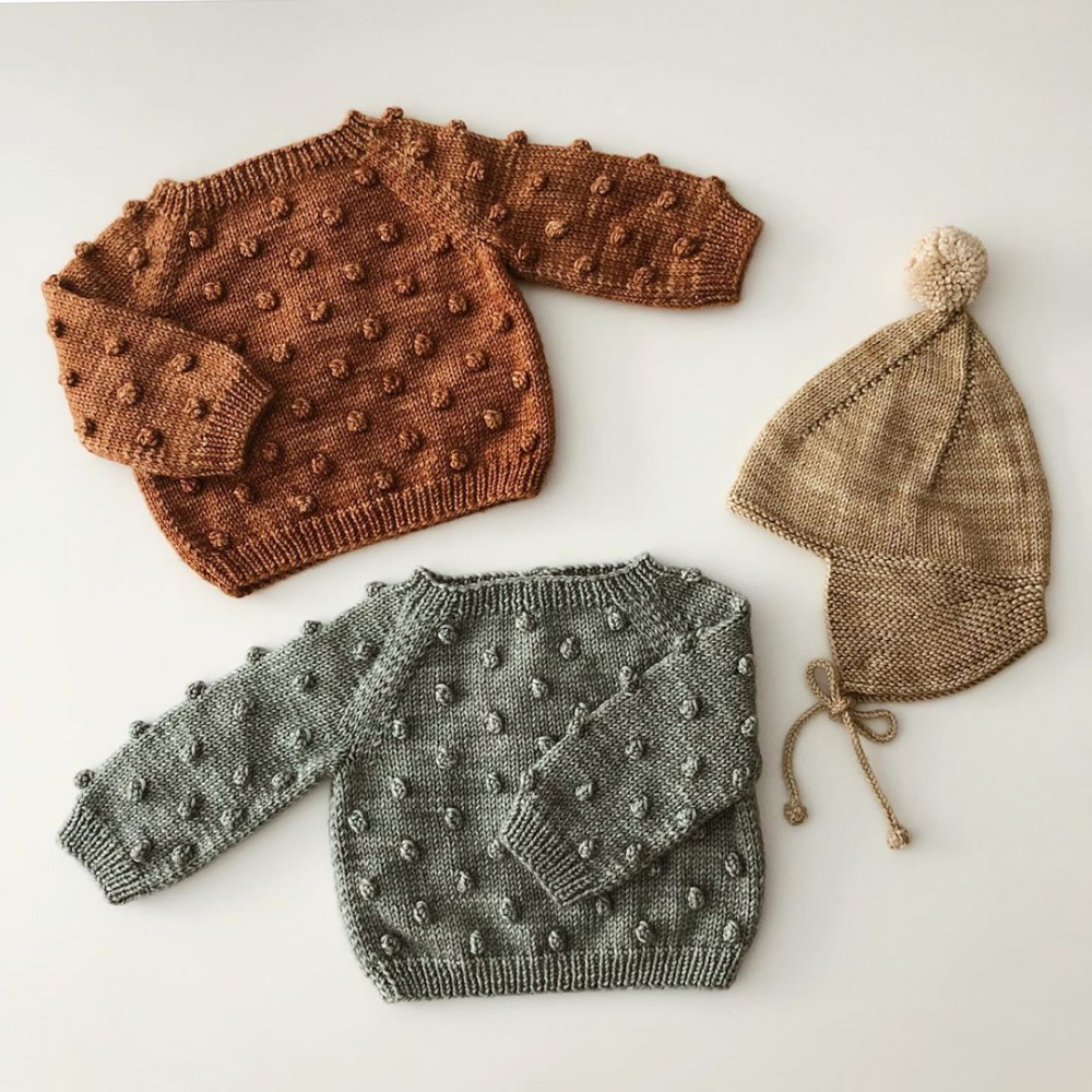 Photo of baby knitted clothes