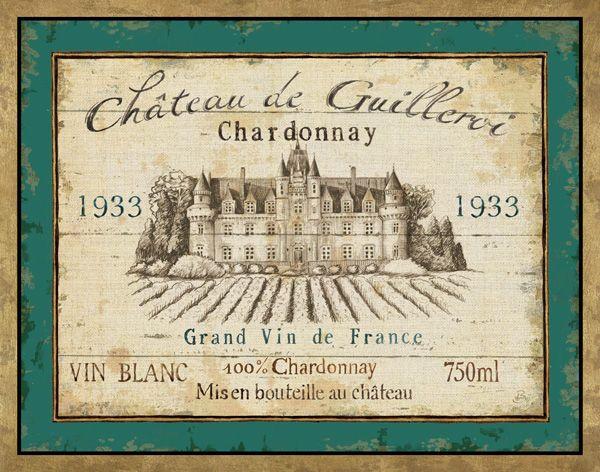 Vintage Wine Labels Bordeaux French Wine Labels Wine Label Art Vintage Wine Label