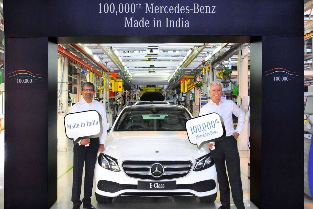 mercedes-benz, india's largest luxury car manufacturer celebrated a