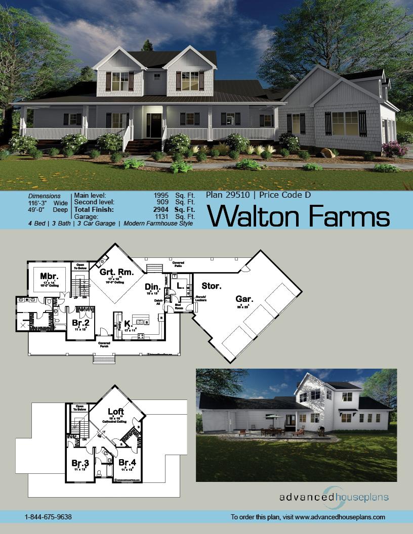 1 5 Story Modern Farmhouse Plan Walton Farms Modern Farmhouse Plans Farmhouse Plans House Plans Farmhouse
