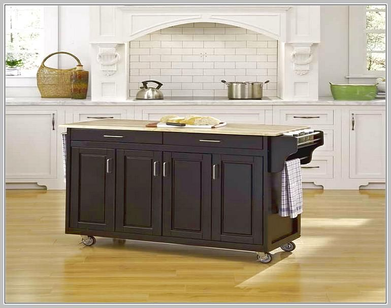Movable Kitchen Island With A Lot Of Storage