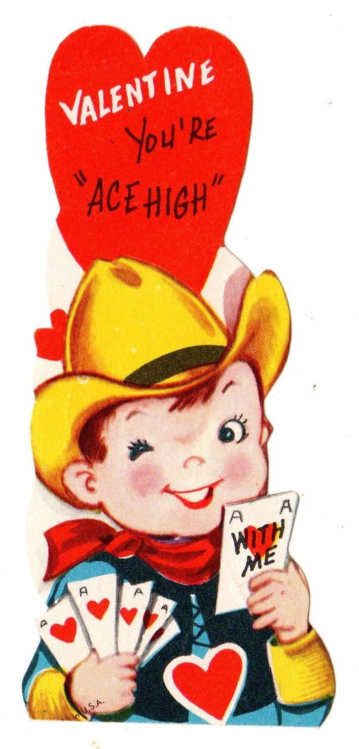 Cowboy Playing Cards Poker Says Youre Ace High Vintage