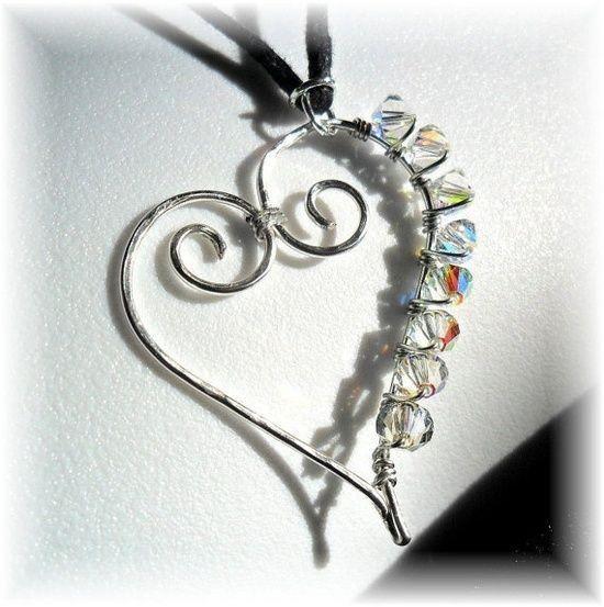 wire wrap necklace | Wire | Pinterest | Draht, Schmuck basteln und ...