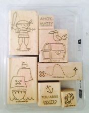 Stampin Up Ahoy Matey Stamp Set Of 7 Retired Gently Used Free Shipping