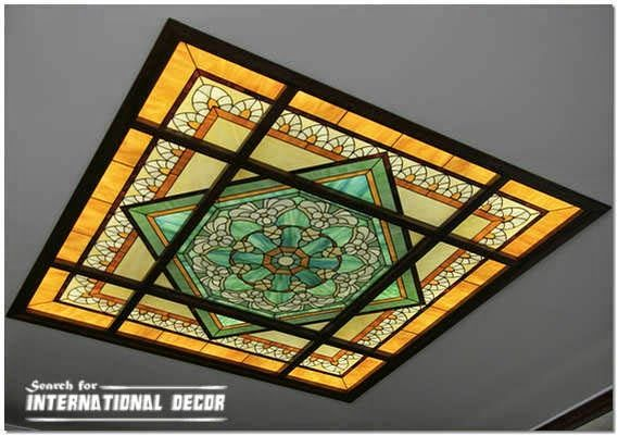 Stained Glass Ceiling Designs And Panels In The Interior International Decor Stained Glass Glass Ceiling Stained Glass Panels