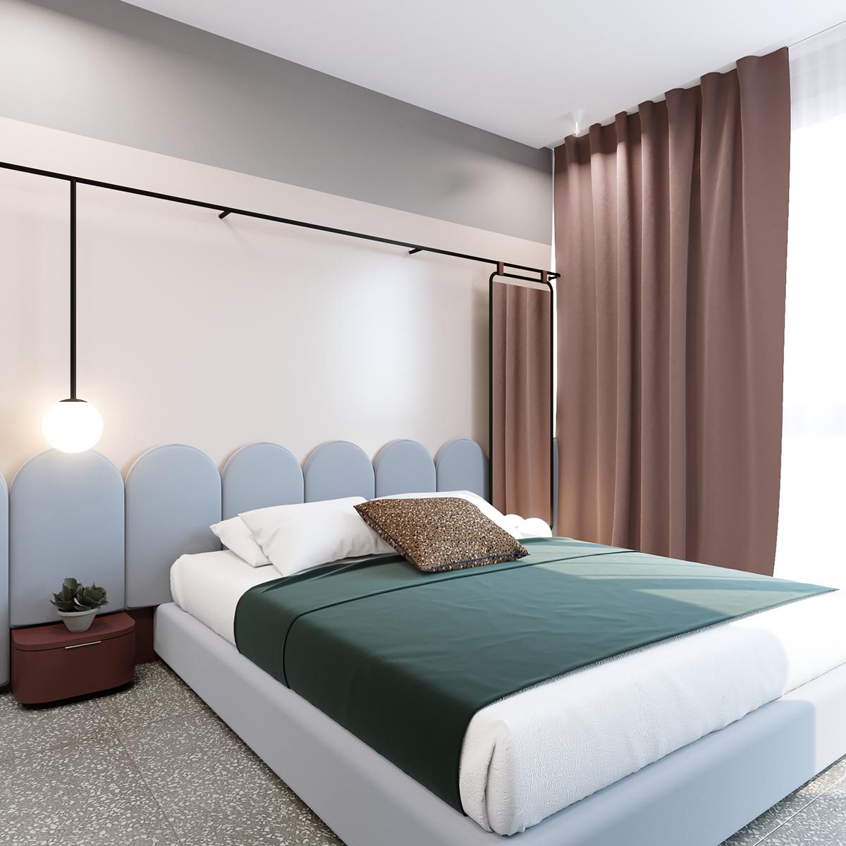 45 sq meters apartment on behance boomroom in 2019 bedroom rh pinterest com
