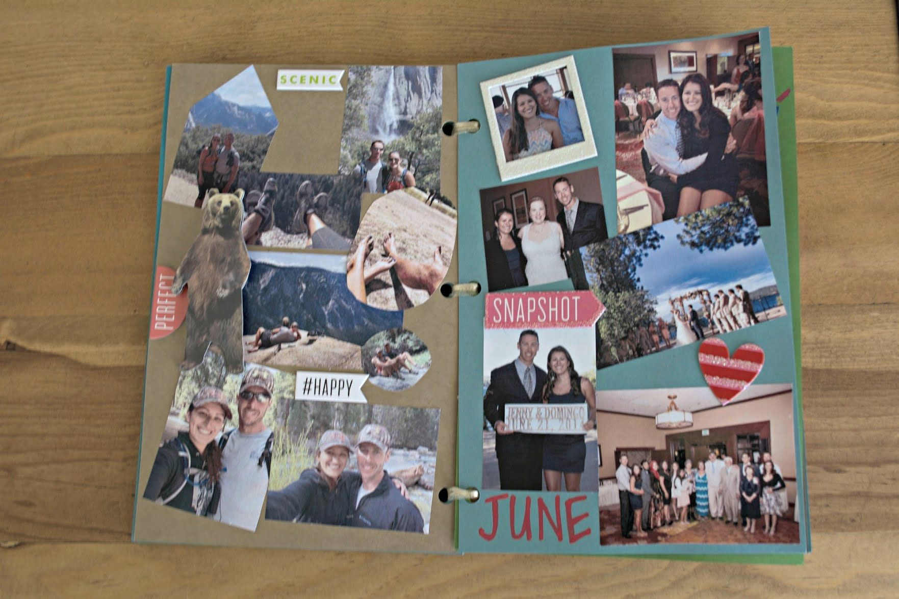 Pages from my diy one year anniversary book babe
