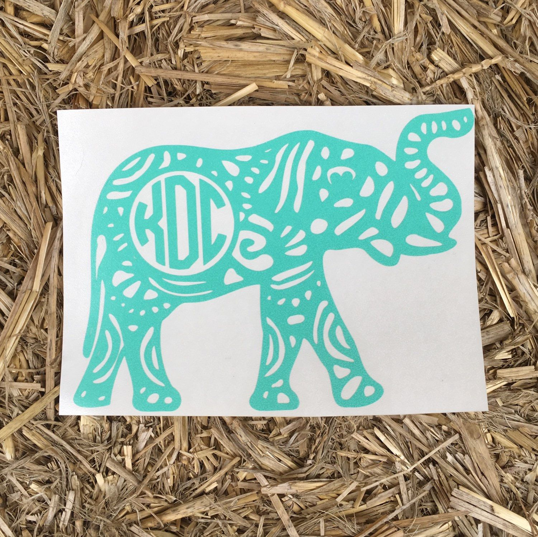 Aztec Aztec Monogrammed Elephant Monogrammed Elephant Car Decal Monogram Elephant Car Elephant Aztec [ 1497 x 1500 Pixel ]