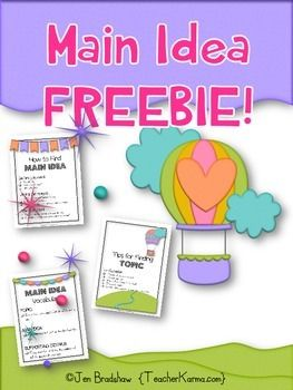 This Main Idea FREEBIE was designed to provide your students with the knowledge to understand topic, find main idea, designate details, and improve overall comprehension skills.  **Add to your TEST PREP library!Using this Main Idea FREEBIE in your classroom will benefit your students in the following ways: Inspire students to apply skills for understanding main idea and details while reading.