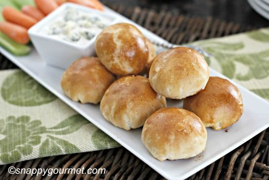 Buffalo Chicken Biscuit Poppers