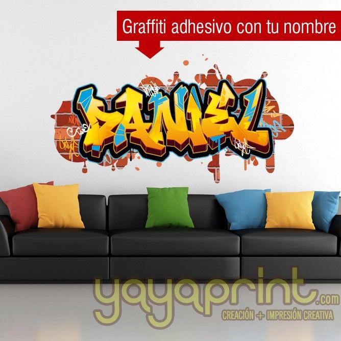 Superbe Graffiti Nombre Jordi Pegatina Vinilo Decoración Yayaprint Kids Bedroom Wall  Art Sticker Graffiti Name. Wall