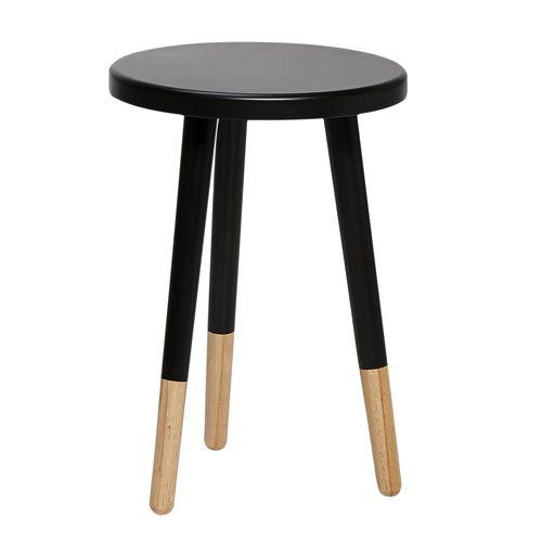tabouret de bar noir et bois simple nastrosw tabouret design coque noire pied bois finition. Black Bedroom Furniture Sets. Home Design Ideas
