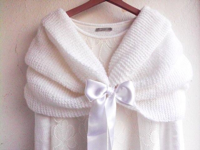 63e07690a97f Boléro Mariage, foulard mariée, écharpe tricotée,Etole , chale ...