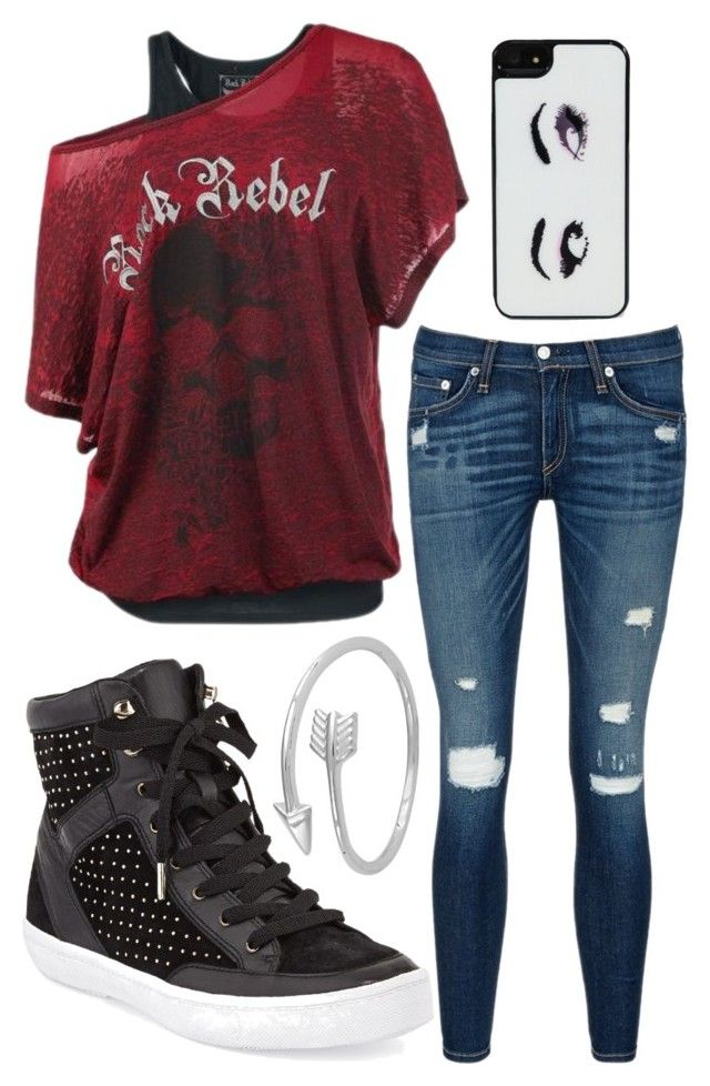 """""""No one is told who they have to be, you decide who you want to be"""" by hazelnut2002 ❤ liked on Polyvore featuring rag & bone/JEAN, Rebecca Minkoff, Kate Spade and Midsummer Star"""