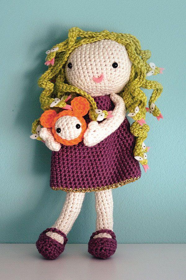 Medusa crochet doll free pattern | Muñecas | Pinterest | Animales ...