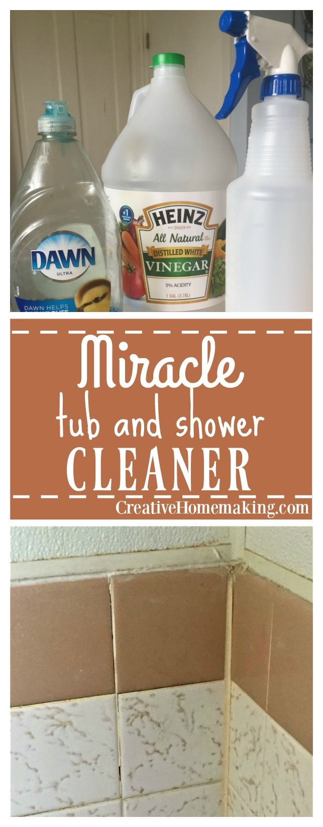 Miracle shower and tub cleaner bathtub cleaner dawn - Homemade bathroom cleaner with dawn ...