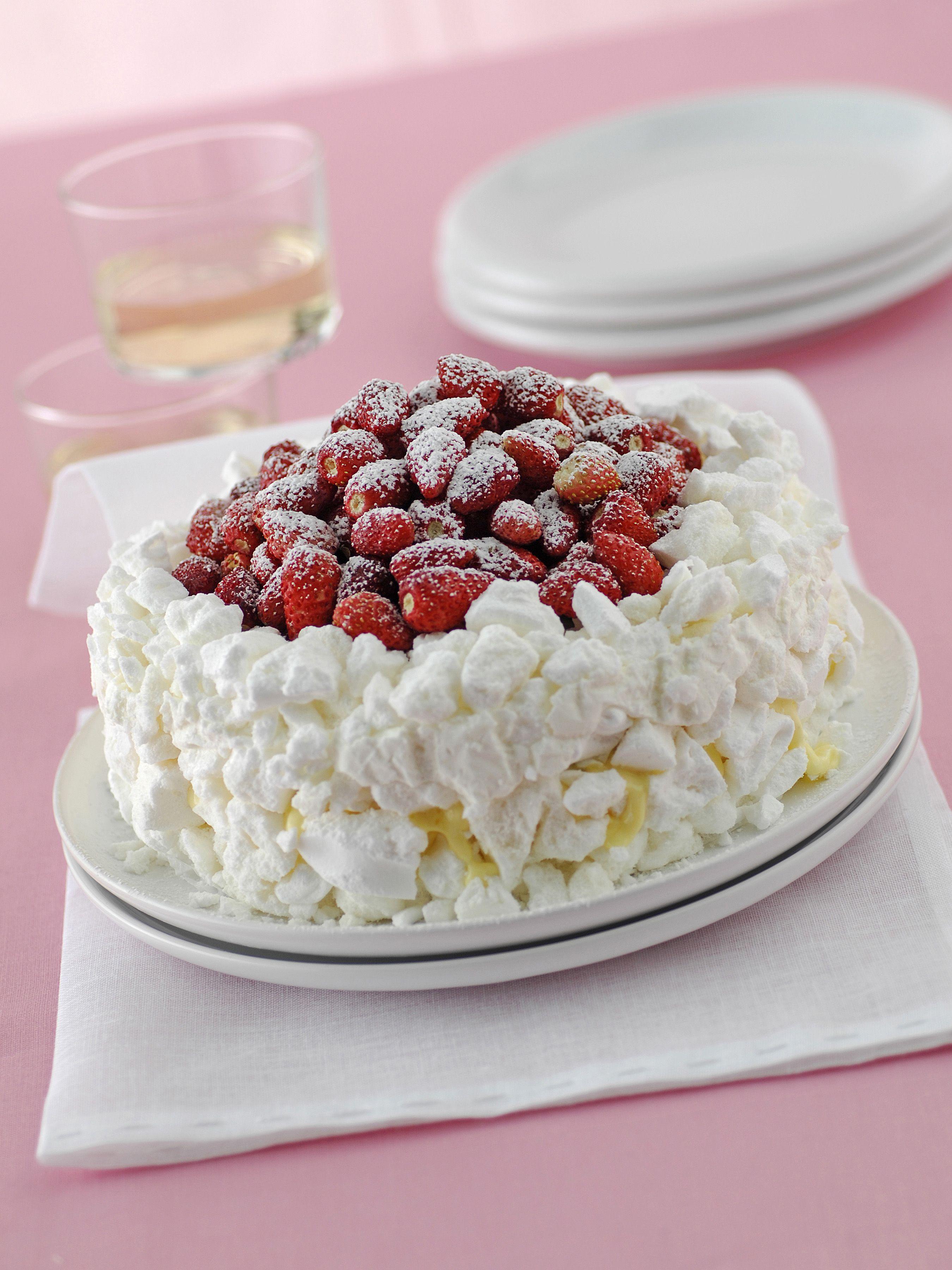 Ricetta Meringhe E Fragole.Pin Su Torte