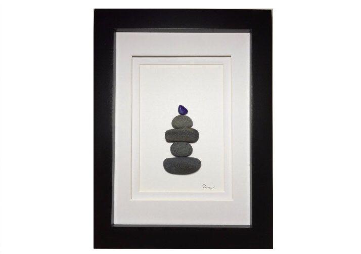 Sea Glass Art - Hiker art - Gift for Hiker by SetInStoneGifts on Etsy https://www.etsy.com/listing/259471011/sea-glass-art-hiker-art-gift-for-hiker