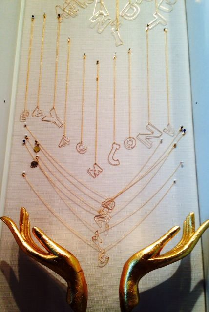 Looking for simple yet special gift? We continue to carry a very unique collection of letter monogram necklaces made in Brooklyn NY by local designer Gauge. Stay in touch with your loved ones!