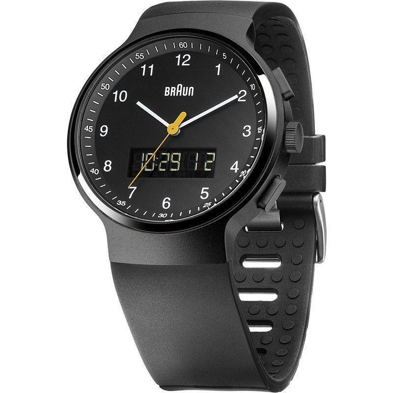 Braun BN0159 Black Ani-Digi Chronograph Men's Watch   Rubber