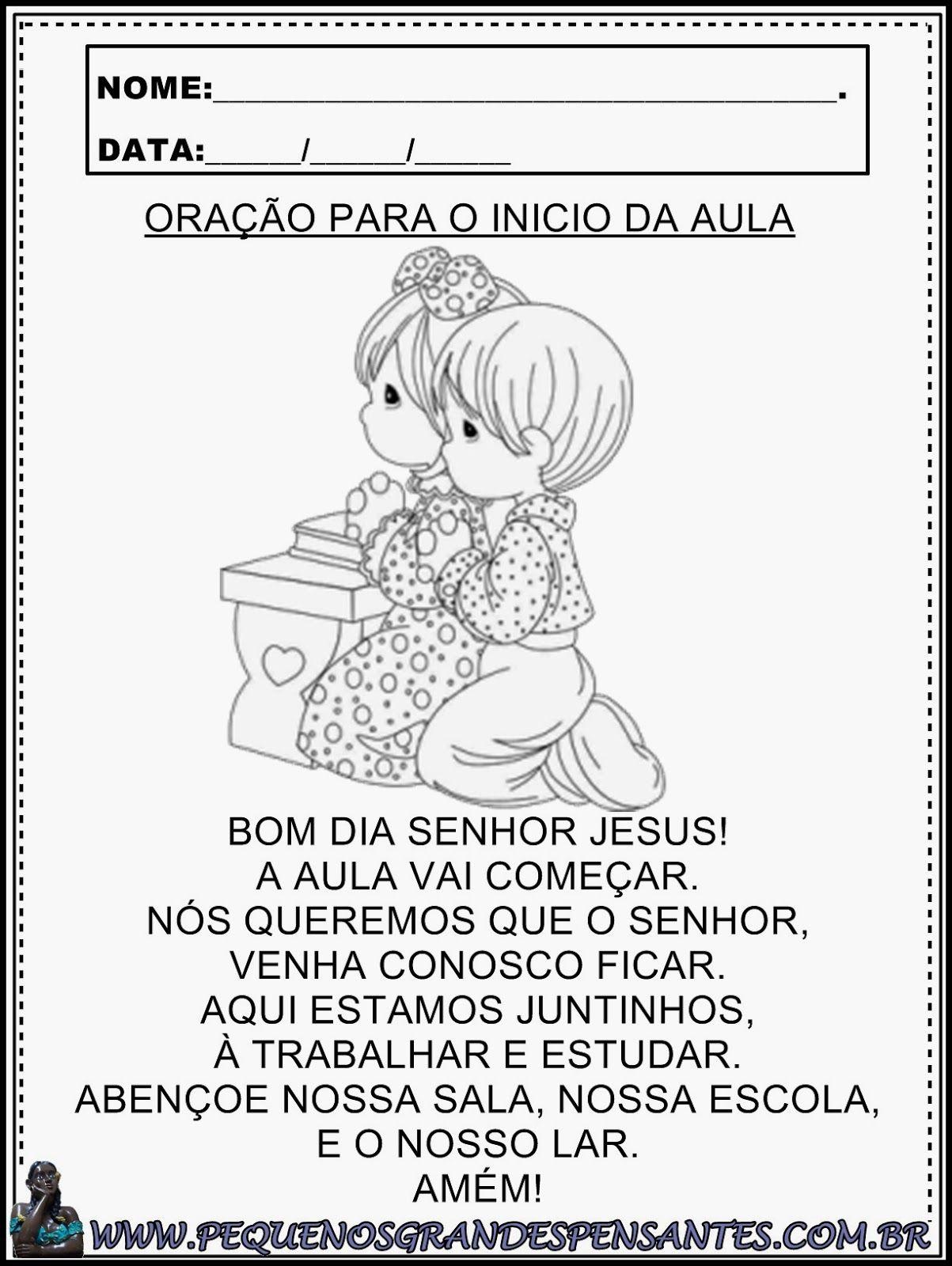 Atividades Para O Dia Da Oracao Educacao Infantil Oracao Da