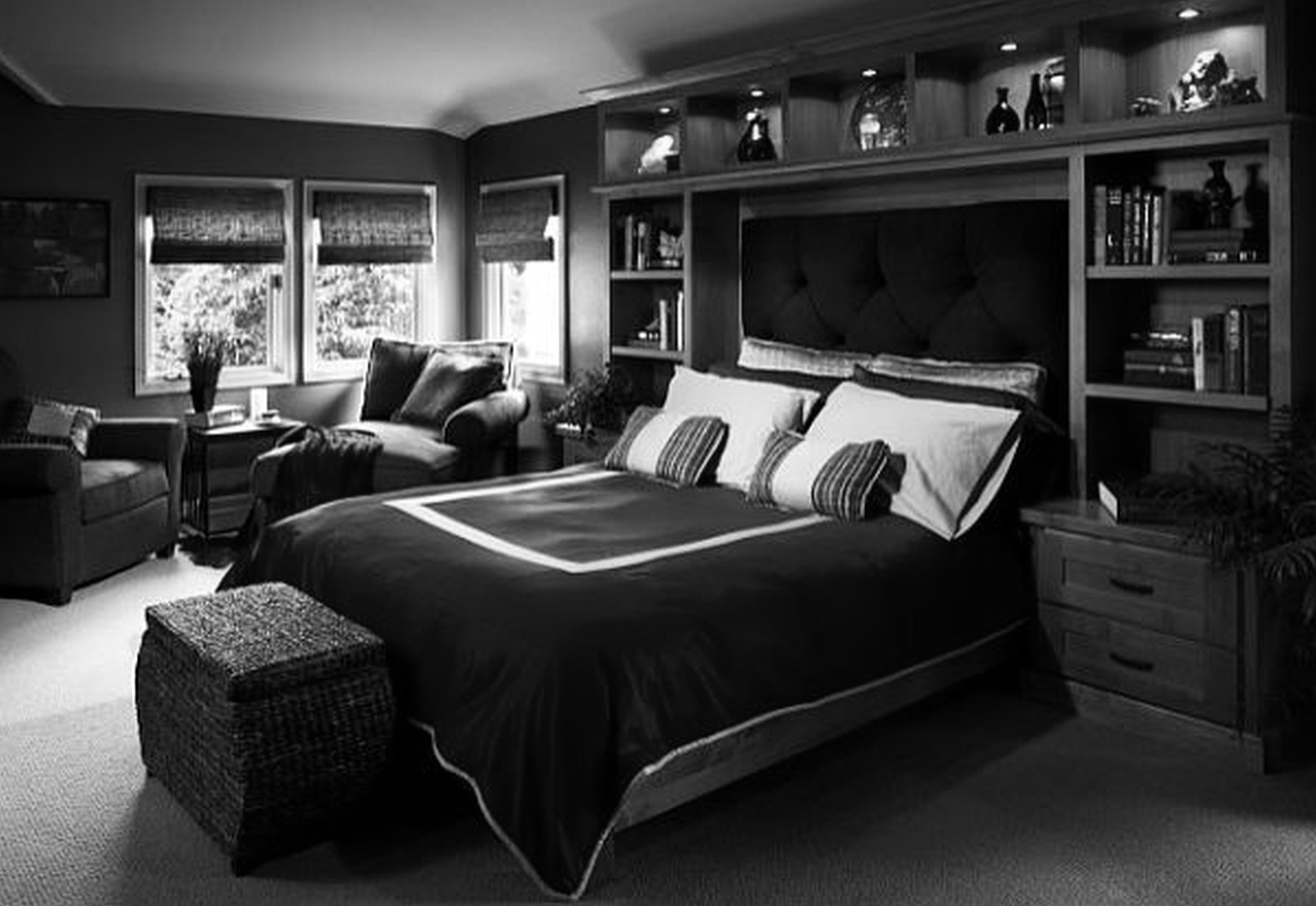 Bedroom furniture for men - Bedroom Furniture Sets For Men Yunnafurnitures Bedroom Guest Bedroom Love The Headboard Would Leave Lots Of Room For Desk And Dresser In