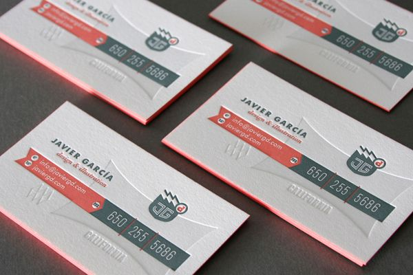 Desi mckinnon this looks cool i like the use of the blind emboss currently browsing javier garcia business card for your design inspiration colourmoves Choice Image