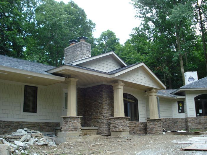 Double Gable Roof Remodeling Front Of House 1950 S Ranch Remodel Ranch Remodel Ranch Style Homes House Front
