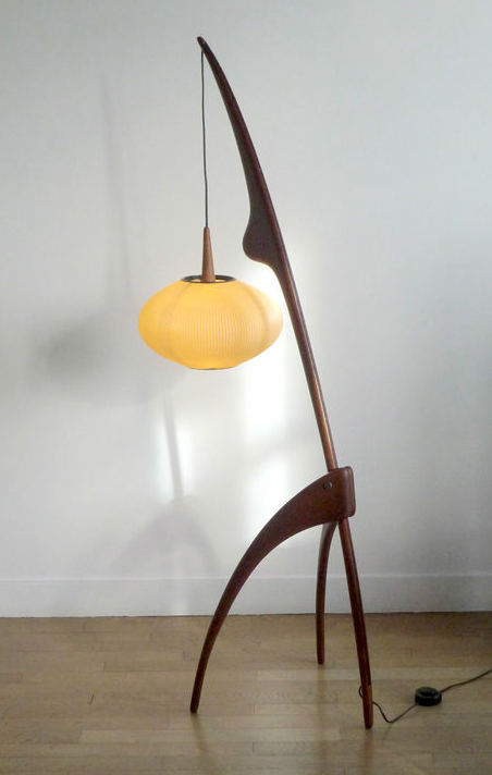 Wonderful Incredible Mid Century Rispal France Floor Lamp. Check Out This  Unbelievable Lamp By Rispal,