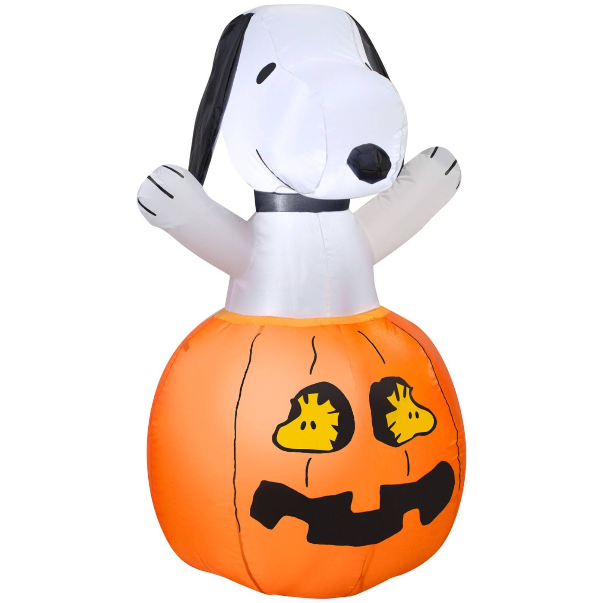 Gemmy Halloween Airblown Inflatable Snoopy In Pumpkin w/Woodstock ...