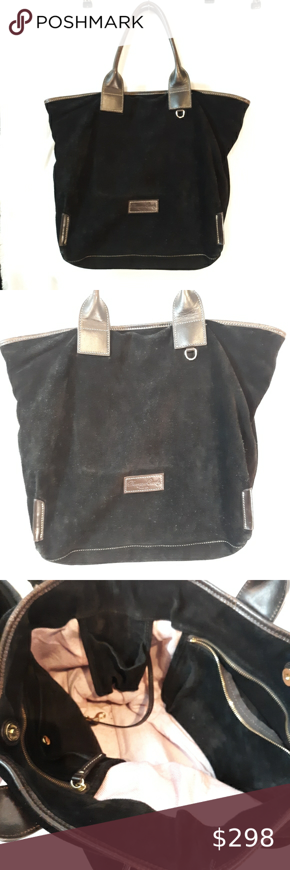 Dooney Bourke Suede And Leather Tote