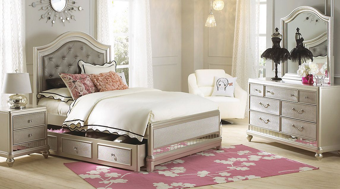 Teens Bedroom Sets Magnificent Sofia Vergara Petit Paris Champagne 6 Pc Full Panel Bedroom Inspiration