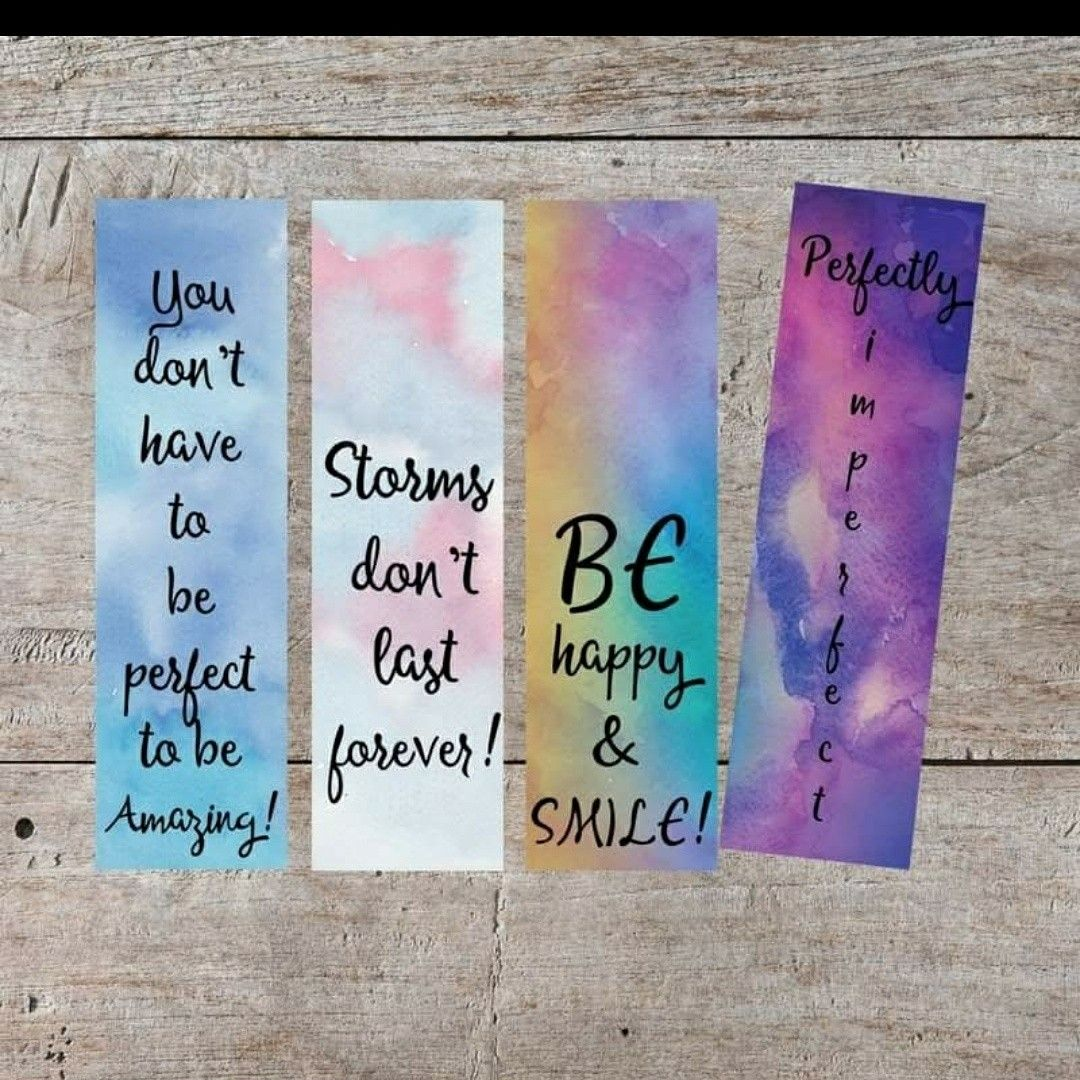 Free Printable Watercolor Bookmarks Www Facebook Com