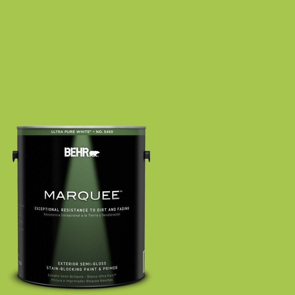 BEHR MARQUEE 1-gal. #420B-5 Sweet Midori Semi-Gloss Enamel Exterior Paint