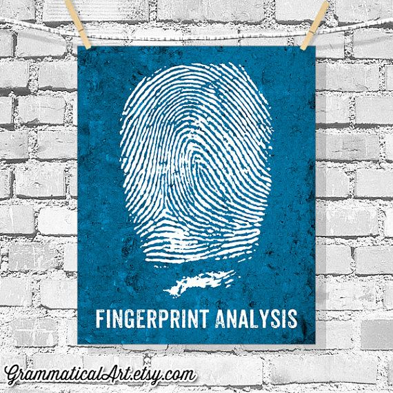 Forensic Science Poster Fingerprint Analysis Science Print Etsy Science Poster Forensic Science Scientist Gifts