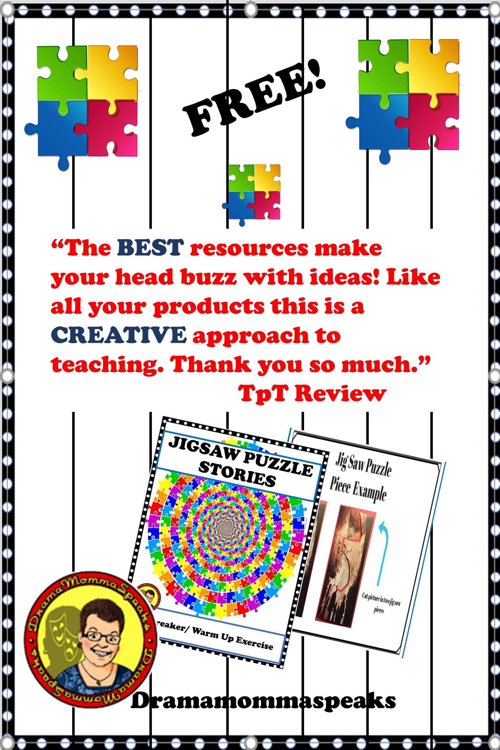Storytelling using jig saw puzzle pieces Drama teacher
