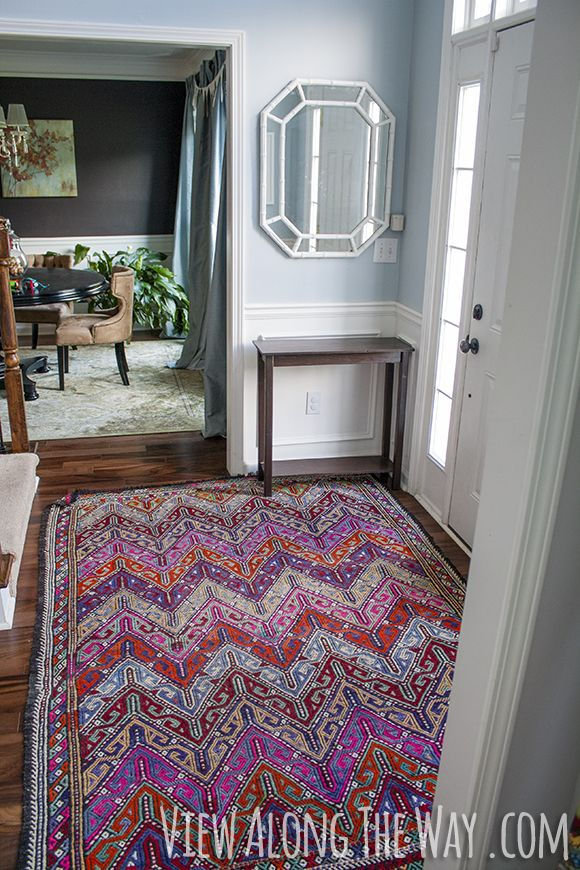 Decorating With A Colorful Kilim Rug